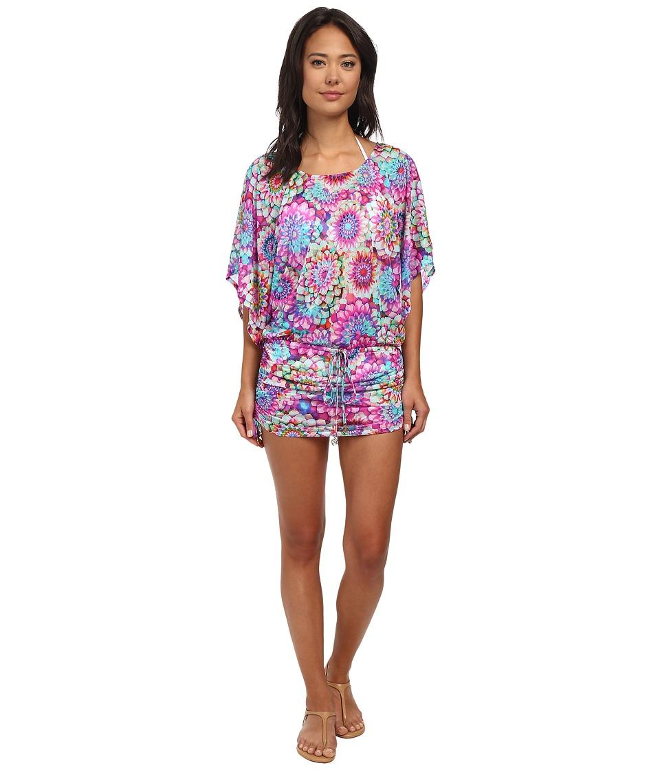 Luli Fama Sol Brillante South Beach Dress Cover Up Multicolor Womens Swimwear