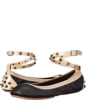 Yosi Samra - Addison Soft Leather Fold Up Flat w/ Studded Ankle Strap