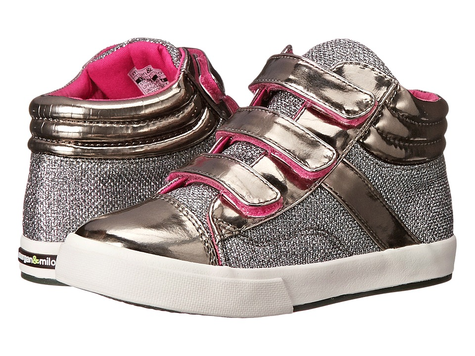 Morgan + Milo Mix It Up Triple V (Toddler/Little Kid) (Silver) Girls Shoes