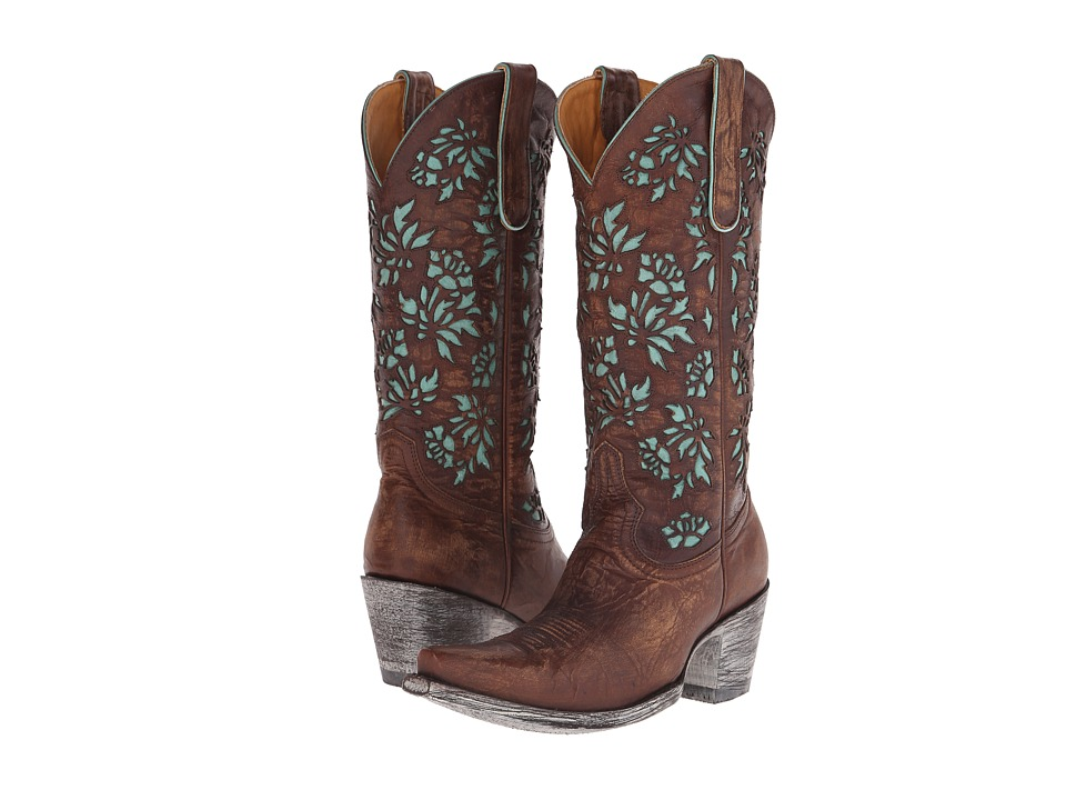 Old Gringo Mary Lou (Brass) Cowboy Boots
