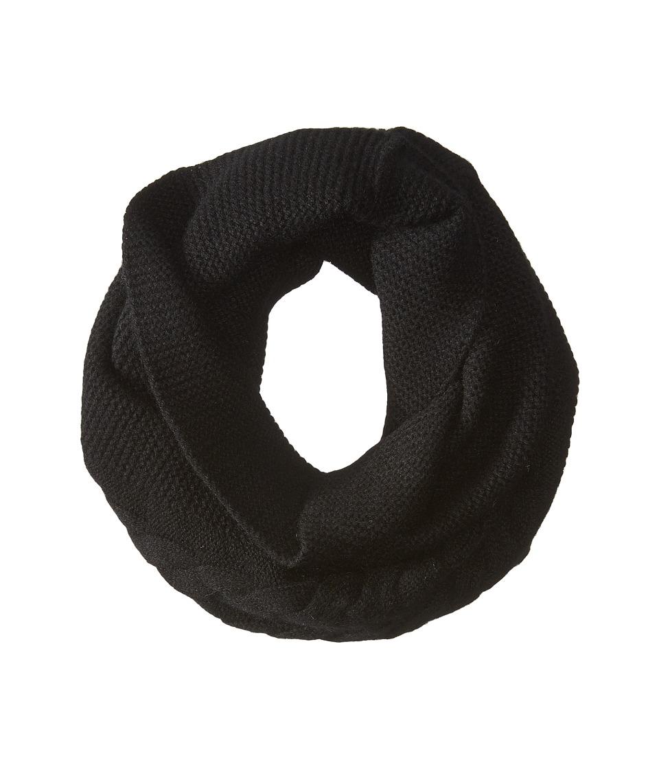 LAUREN Ralph Lauren Cashmere Garter Funnel Cashmere Black Scarves