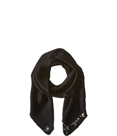 LAUREN by Ralph Lauren - Jewel Encrusted Waffle Stitch Scarf