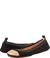 Yosi Samra - Sybil Kid Suede Fold Up Flat with Burnished Croco Captoe
