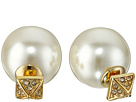 Rebecca Minkoff - Two Part Pave/Pearl Earrings