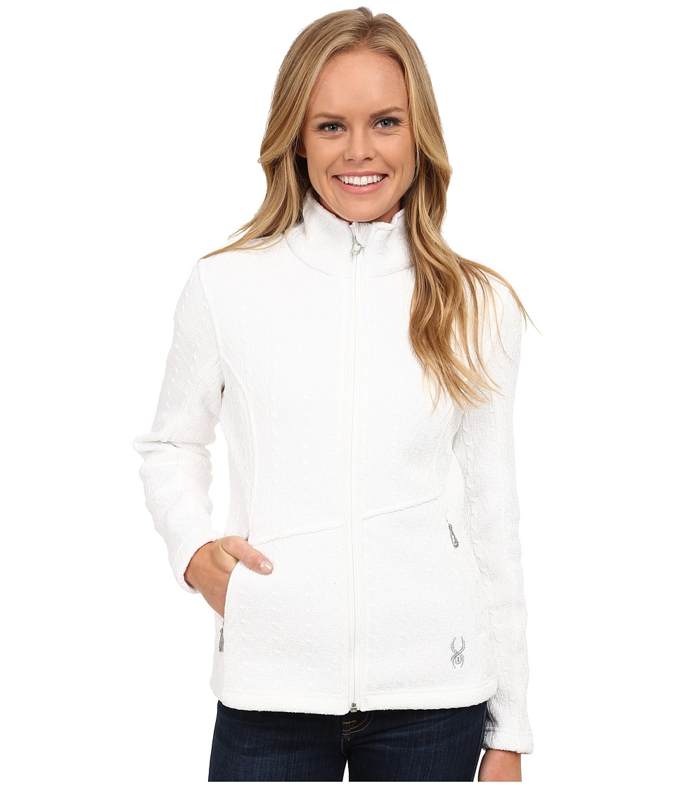 Spyder Major Cable Core Sweater (White) Women