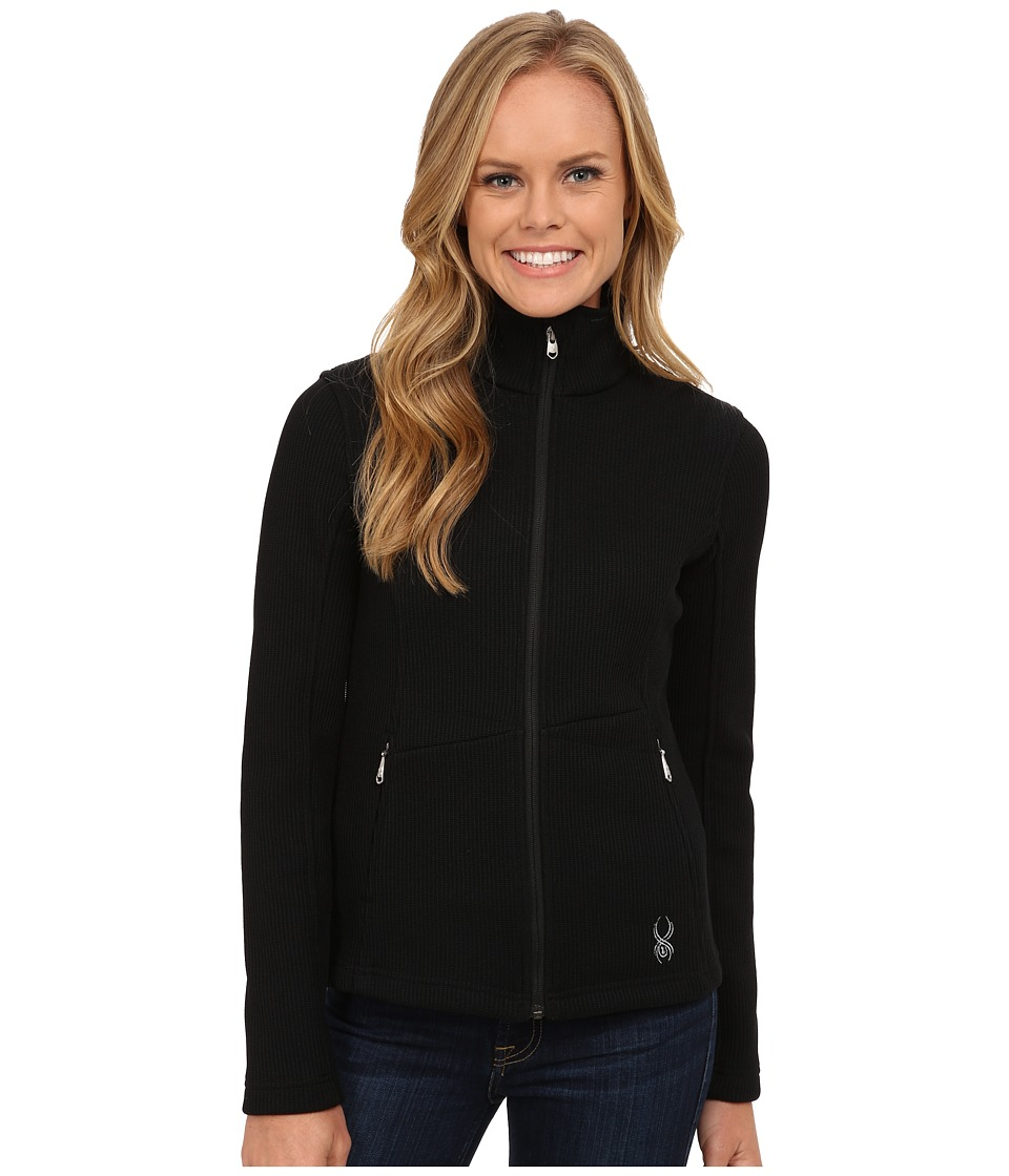 Spyder - Endure Full Zip Mid Weight Core Sweater (Black) Women