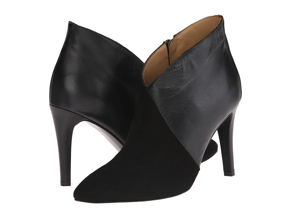 Massimo Matteo - Leather Suede Bootie (Black) Women