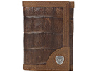 Ariat - Shield Croco Tri-Fold Wallet