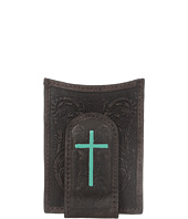 Ariat - Embossed Turquoise Cross Money Clip