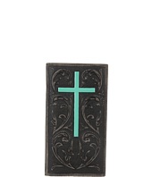 Ariat - Embossed Turquoise Cross Rodeo Wallet