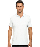 John Varvatos Star U.S.A. - Soft Collar Peace Polo with Contrast Stitching and Peace Sign Chest Embroidery K1381R2B