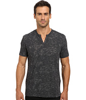 John Varvatos Star U.S.A. - Short Sleeve Crew Neck Knit Eylelet Placket Detail K1213R2B
