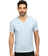 John Varvatos Star U.S.A. - Basic Short Sleeve V-Neck Knit with Vertical Pickstitch K677R2B