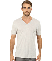 John Varvatos Star U.S.A. - Short Sleeve Knit V-Neck with Pintuck Seam Details K2163R2L