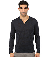 John Varvatos Star U.S.A. - Long Sleeve Knit Crew Neck with Eyelet Detail K2077R3B