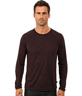John Varvatos Star U.S.A. - Long Sleeve Raglan Knit Crew Neck with Raw Cut Seams and Coverstitch Details K2411R3B
