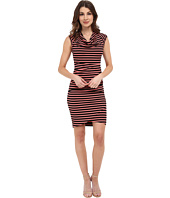 Nicole Miller - Jolly Stripe Cowl Dress