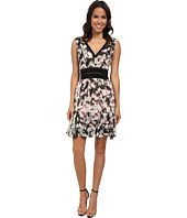 Nicole Miller - Rose Trellis V-Neck Party Dress
