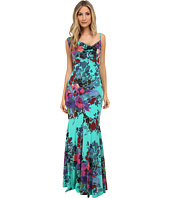 Nicole Miller - Botanic Silk Asymmetric Gown