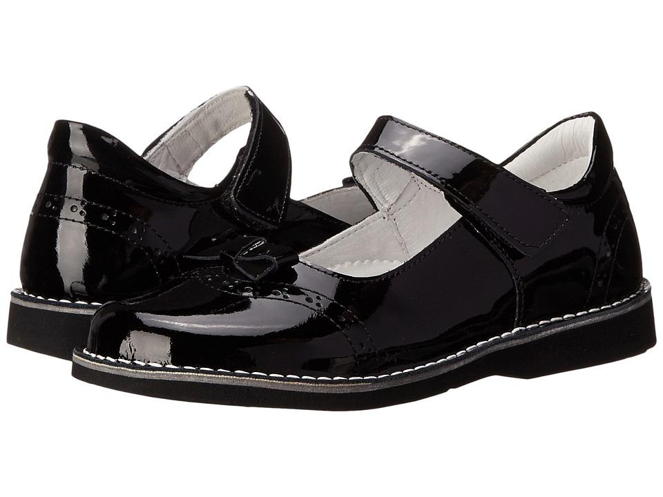 Kid Express Kenzie Toddler/Little Kid/Big Kid Black Patent Girls Shoes