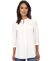 Anne Klein - Washed Linen Roll Sleeve Blouse