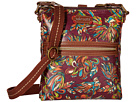 Sakroots Artist Circle Tablet Crossbody (Mulberry Treehouse)