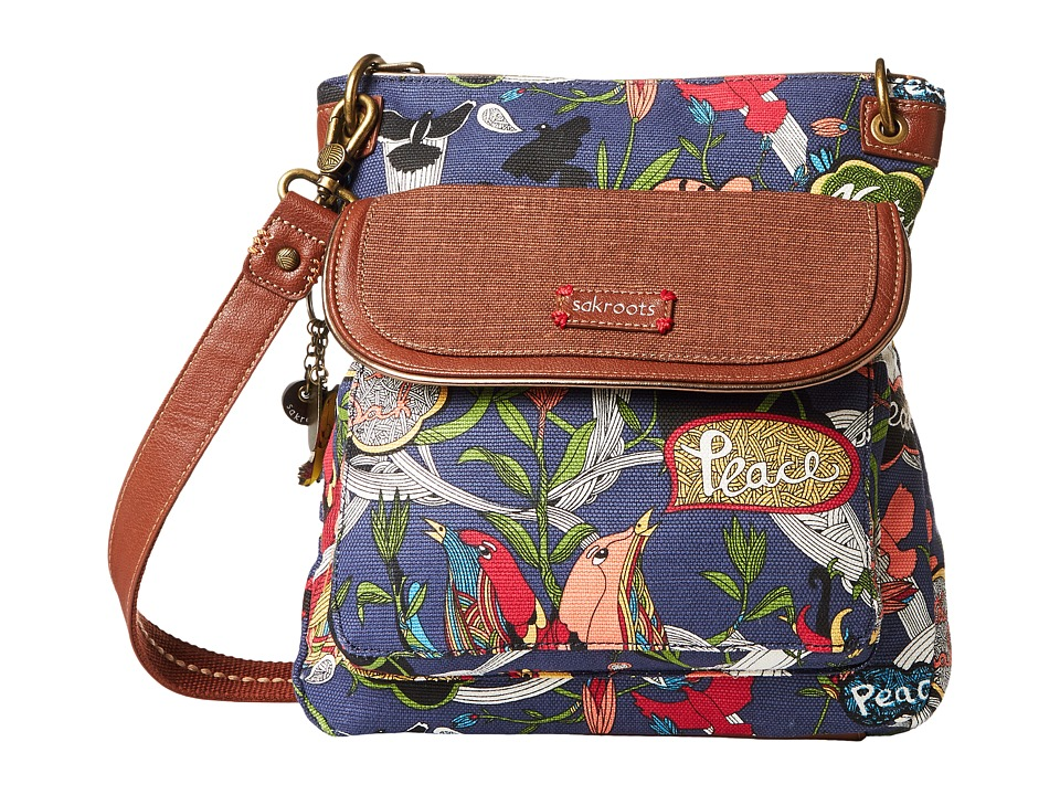 Sakroots - Artist Circle Flap Crossbody (River Peace) Cross Body Handbags