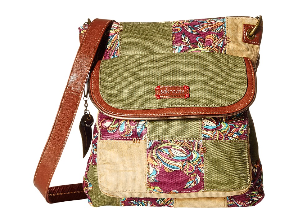 Sakroots - Artist Circle Flap Crossbody (Mulberry Treehouse Patch) Cross Body Handbags