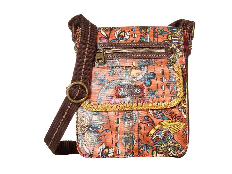 Sakroots - Artist Circle Small Flap Messenger (Terra Cotta Spirit Desert) Cross Body Handbags