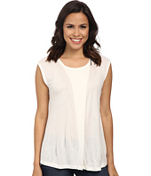 Anne Klein - Aysmmetric Short Sleeve Top