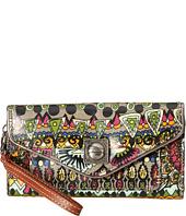 Sakroots - Artist Circle Flap Wallet Wristlet