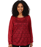 Roper - Plus Size 0065 Allover Stretch Lace Top
