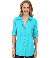 Roper - 0137 Turquoise Cotton Blouse