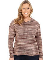 Roper - Plus Size 0156 Marbled Sweater Jersey Hooded Top