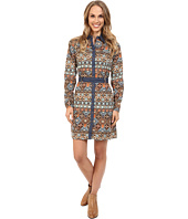 Roper - 9902 Aztec Printed Poplin Shirt Dress