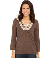 Roper - 9917 Heather Jersey Peasant Top