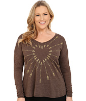 Roper - Plus Size 9917 Light Weight Heather Jersey V-Neck Tee
