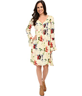Stetson - Textured Floral Print Rayon Dress