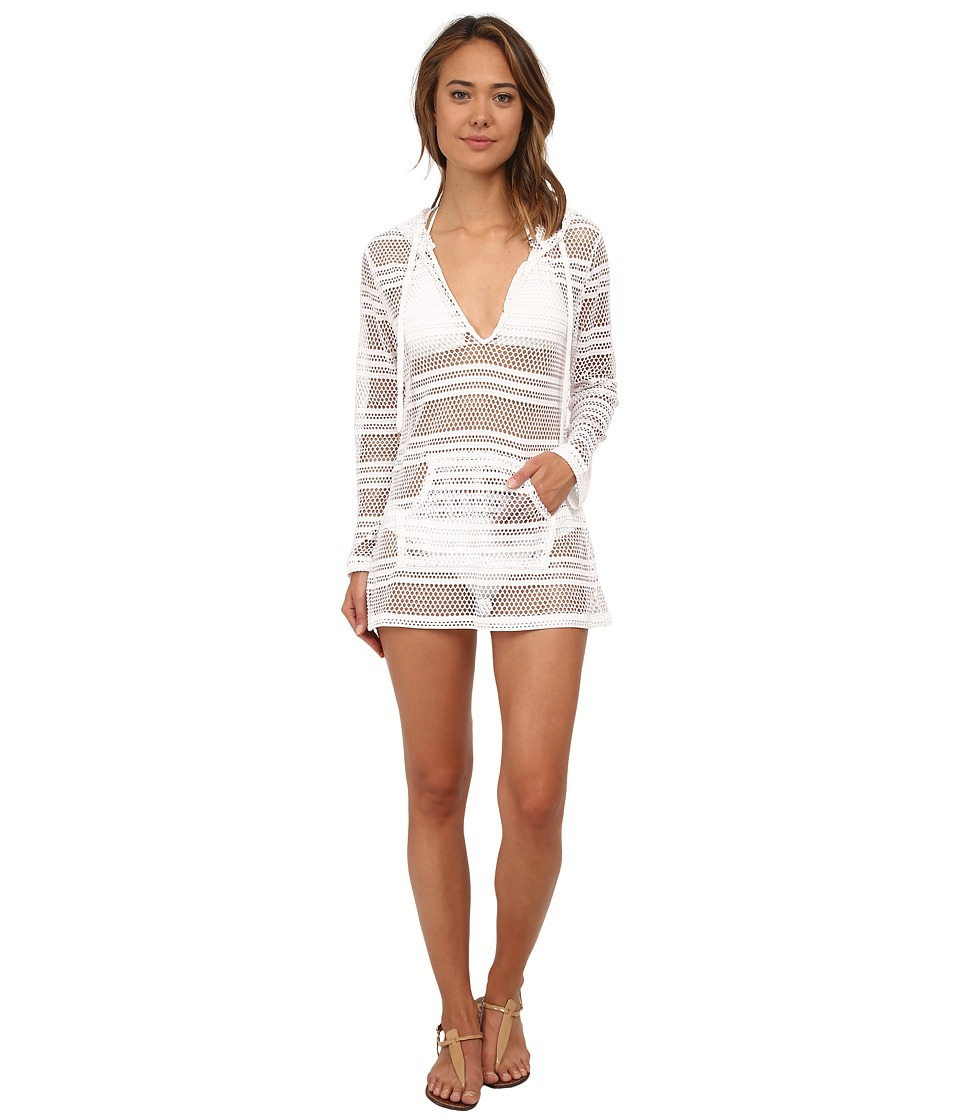 La Blanca All Caught Up Hoodie Cover Up White Womens Swimwear
