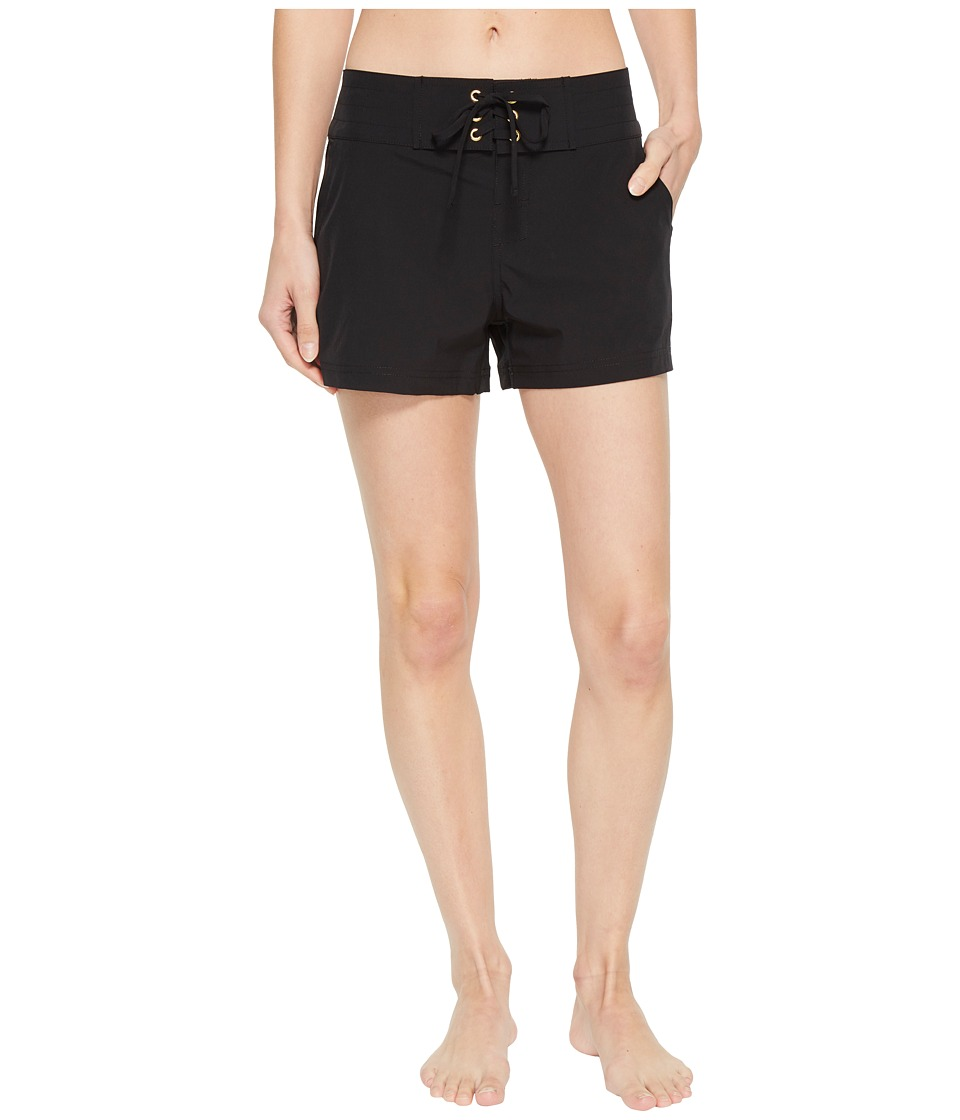 La Blanca - All Aboard 3 Boardshorts (Black) Womens Shorts