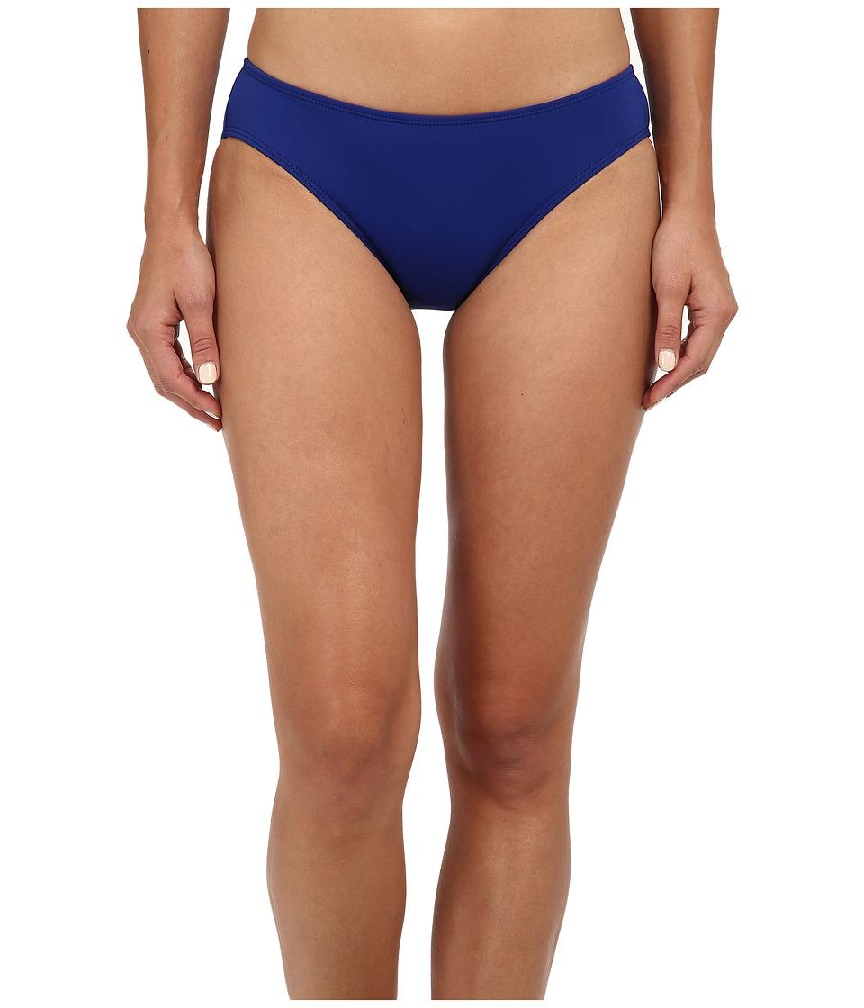 LAUREN Ralph Lauren - Laguna Solids Hipster w/ Logo Plate Bottoms (Ocean) Womens Swimwear