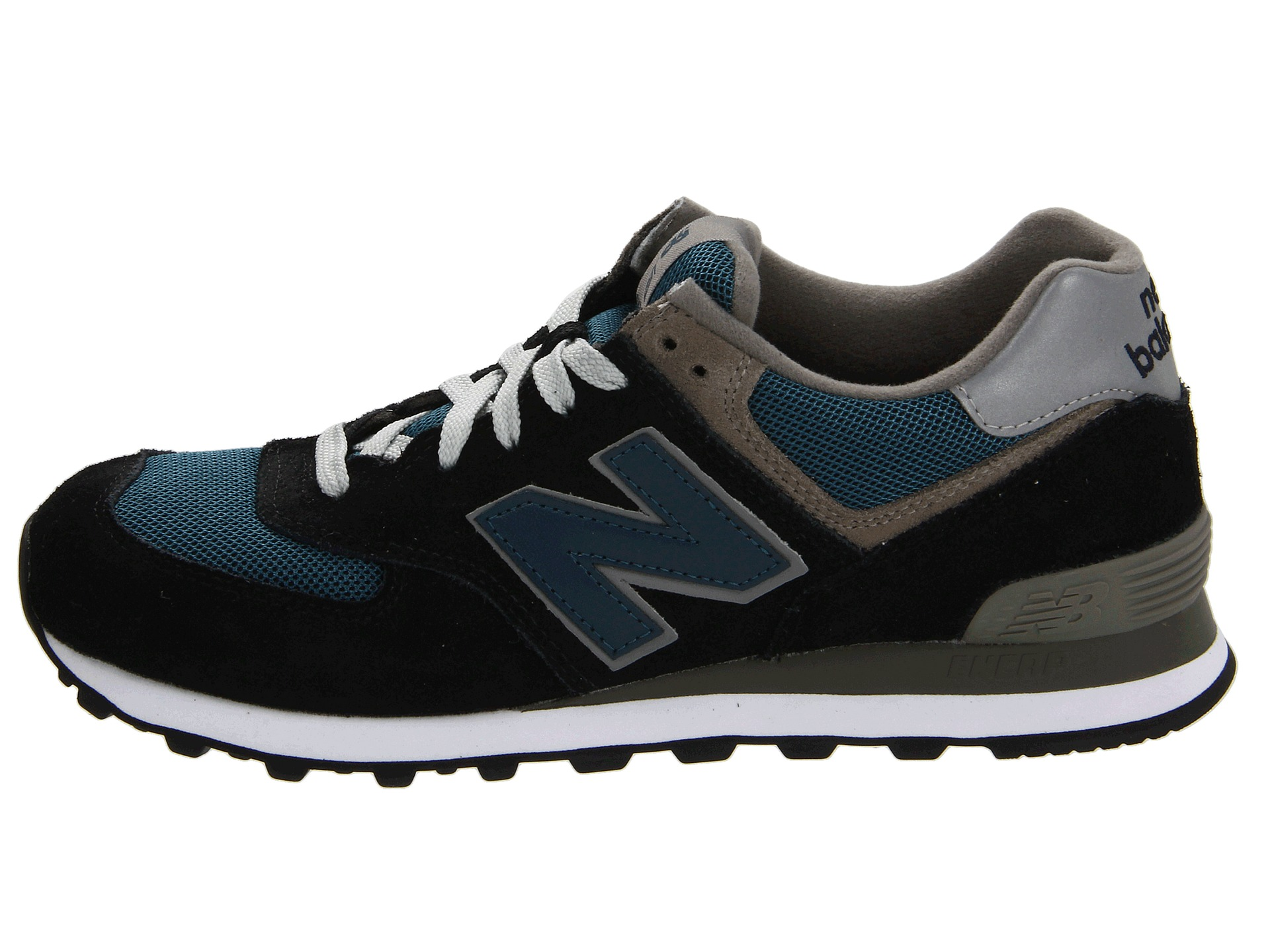 new balance classics m574 navy teal grey free shipping both ways. Black Bedroom Furniture Sets. Home Design Ideas