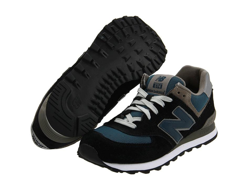 New Balance Classics - M574 (Navy/Teal/Grey) Mens Classic Shoes