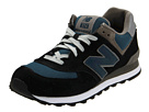 New Balance Classics M574 Navy, Teal, Grey Shoes
