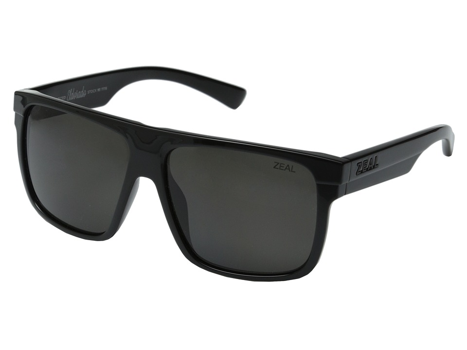 Zeal Optics Eldorado Black Gloss/Dark Grey Polarized Lens Sport Sunglasses