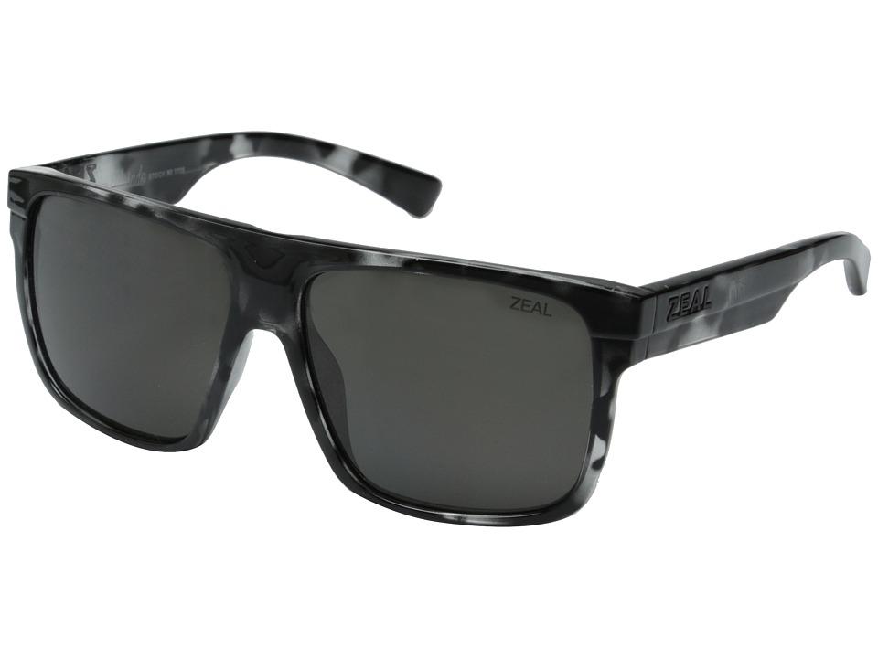 Zeal Optics Eldorado Black Marble/Dark Grey Polarized Lens Sport Sunglasses