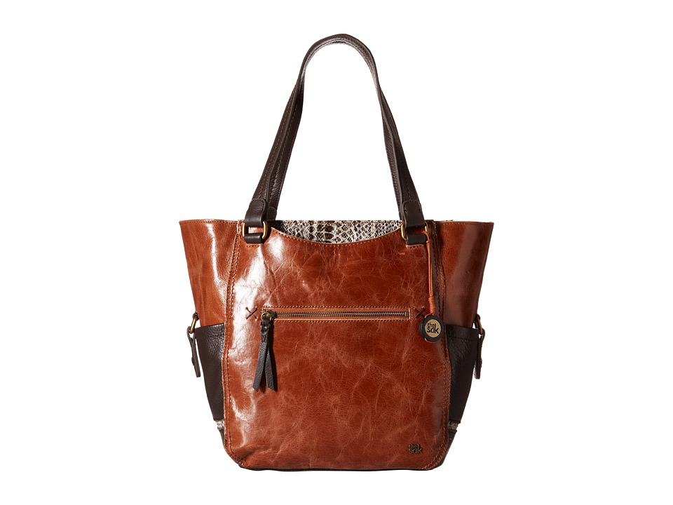 The Sak Kendra Work Tote (Brown Snake Multi) Tote Handbags