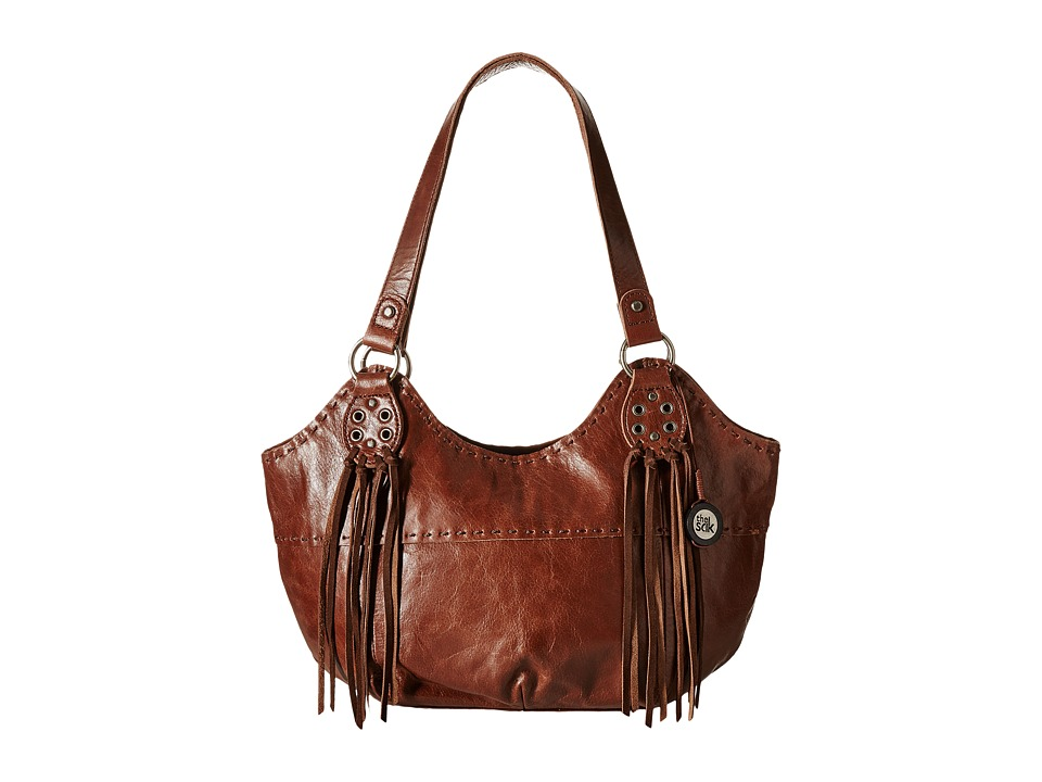 The Sak - Indio Satchel (Teak Fringe) Shoulder Handbags