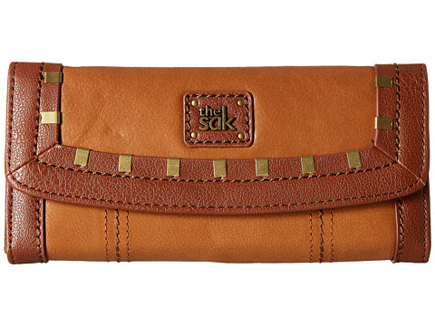 The Sak Iris Flap Wallet - Tobacco Staples