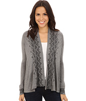 Stetson - Heather Grey Cropped Cardigan